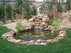 Koi Pond With Fountain Design Ideas 30