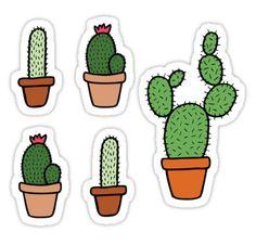 & # Pink Cactus Pattern & # Stickers by evannave Cactus House Plants, Cactus Decor, Indoor Cactus, Cactus Cactus, Cactus Stickers, Cute Stickers, Cactus Drawing, Crochet Towel, Tumblr Stickers