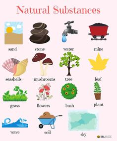 Natural Substances Vocabulary
