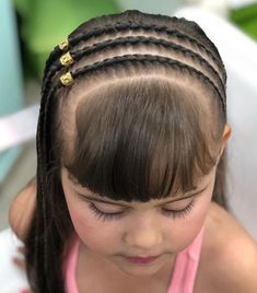 Girls Natural Hairstyles, Work Hairstyles, Kids Braided Hairstyles, Creative Hairstyles, Box Braids Hairstyles, Little Girl Hairstyles, Pretty Hairstyles, Natural Hair Styles, Long Hair Styles