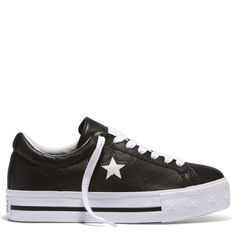 One Star Lift Platform Low Top Black online at Converse. Free shipping on orders over $75.