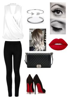 """""""Başlıksız #41"""" by ecememir on Polyvore featuring moda, New Look, Christian Louboutin, Wolford, Maison Margiela, Bling Jewelry, Lime Crime, Chanel, Summer ve red"""