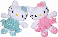 Ravelry: Hello Kitty Ballerina Amigurumi pattern by Mistys Designs - free pattern download, haken, gratis patroon, hello Kitty, amigurumi
