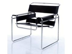 Bauhaus: Wassily chair (Model by Marcel Breuer - Transparency of form and feeling of lightness. Bauhaus Chair, Bauhaus Furniture, Mid Century Modern Furniture, Marcel Breuer, Wassily Chair, Ergonomic Computer Chair, Bauhaus Design, Leather Dining Chairs, Metal Chairs