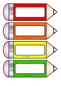 Free printable pencil accents from Instant Display Teaching Resources.  Could be used as bookmarks, name-tags, tray labels etc.  Includes solid colour, metallic, glitter and two types of blank pencils which children could decorate for their own label.