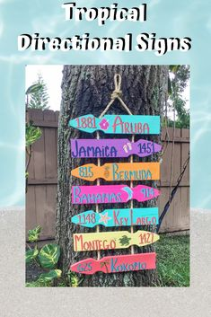 Checking off the bucket list one location at a time. Here's your sign so you'll never forget which direction the most important places in your life are. Coastal Colors, Coastal Decor, Aruba Jamaica, Directional Signs, Garden Signs, Florida Home, Coastal Homes, Inspired Homes, Pallet Projects