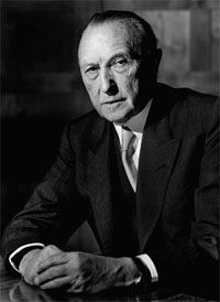 "Konrad Adenauer. ""We all live under the same sky, but we dont have the same horizon."""