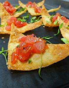crispy wonton with spicy tuna tartare more spicy tuna christine s ...