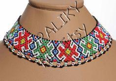 Traditional Ukrainian Folk Handmade Glass Beads Beaded by koraliky