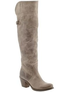 These boots are a statement piece with skinny jeans, nice dress or skirt! I have them in grey and they are so comfy! Frye boots are the best