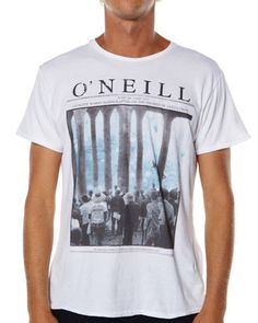 SURFSTITCH - MENS - TEES - SLIM FIT TEES - O'NEILL PIER TEE - WHITE
