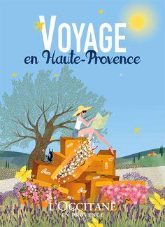 charlotte gastaut illustration l'occitane