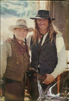 William Shockley of DR. QUINN, MEDICINE WOMAN with Willie Nelson