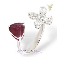 anello diamanti e rubino #ring #diamond #ruby #italy #brescia #bresciacentro #ghidinigioielli #heritage