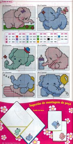 Gráficos ponto cruz: Enxoval de bebe                                                                                                                                                      Mais