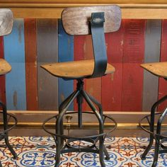 reproduction toledo bar stool. Heavier duty, with swivel, adjustable seat and the back tilts! Wright Bar Chair
