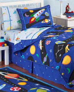 Solar System, Rockets and Planet Boys Bedding