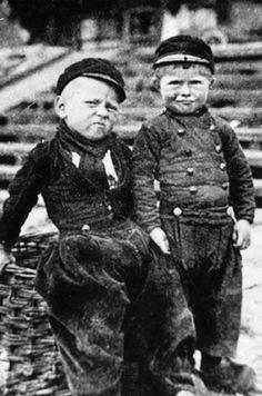 dutch boys in folk daywear, perhaps volendam