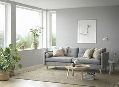Minimalist Scandinavian furniture in soft soothing colors by Brunstad in Norway.