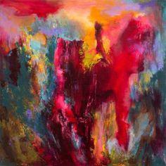 """Saatchi Art Artist Rikka Ayasaki; Painting, """"Blazing sky 104 (acrylic on canvas, 2015)"""" #art"""