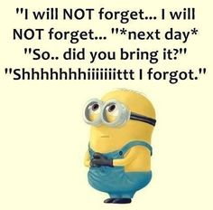 #minions Funny Minion Memes, Silly Memes, Minions Quotes, Wtf Funny, Funny Cute, Minions Love, Minion Stuff, I Love To Laugh, Inspirational Thoughts