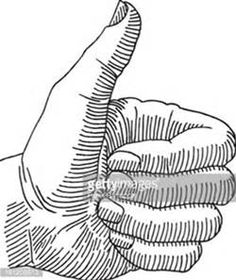 how to draw a hand pointing forward