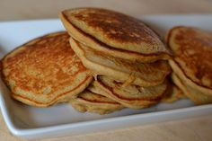Healthy rolled oat and banana pancakes.  super yummy and easy to make. by beauty that moves, via Flickr