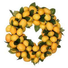 Yellow Lemon Wreath
