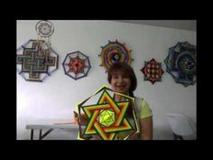 MANDALA TEJIDO | Ojo de Dios (ENGLISH SUB) | tutorial paso a paso AHUYAMA CROCHET - YouTube