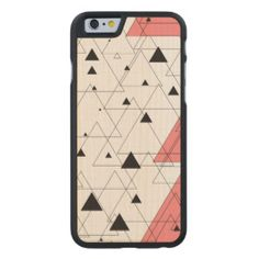 Black and pink triangle Siradesign Carved® Maple iPhone 6 Slim Case Pink Triangle, Iphone 6, Carving, Phone Cases, Slim, How To Make, Gifts, Black, Design