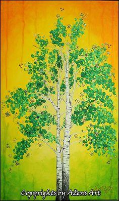 Mixed Media Canvas, Tree Of Life, Birch Trees, Painting, Art, Art Background, Painting Art, Kunst, New Media Art