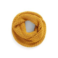 Women's Bp. Knit Infinity Scarf (640 UAH) ❤ liked on Polyvore featuring accessories, scarves, mustard, knit circle scarf, knit shawl, thick knit infinity scarf, loop scarves and knit infinity scarves