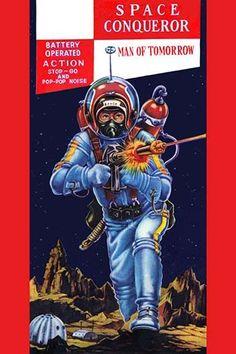 Buyenlarge 'Space Conqueror' Vintage Advertisement Size: H x W Japanese Graphic Design, Vintage Graphic Design, Science Fiction Art, Pulp Fiction, Japanese Illustration, Illustration Art, Children Of America, Illustrations, Pulp Art
