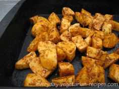 Roasted russet potatoes with smoked paprika