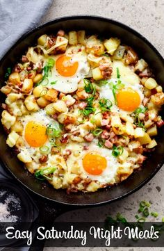 Cheesy bacon and egg hash for breakfast, brunch, lunch or dinner! easy to make and ready in 30 minutes! Cheesy Bacon and Egg Hash… No. Breakfast Desayunos, Breakfast Dishes, Breakfast Recipes, Breakfast Skillet, Breakfast Ideas, Power Breakfast, Breakfast Burritos, Breakfast Casserole, Egg Skillet