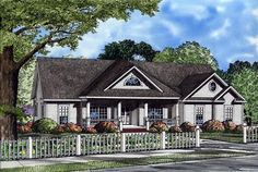 House Plan 82106 | Ranch Plan with 2163 Sq. Ft., 3 Bedrooms, 2 Bathrooms, 2 Car Garage