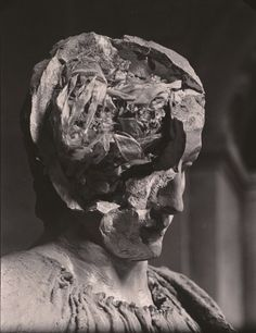 Josef Sudek, Sádrová hlava (Plaster Head), 1945, gelatin silver print.