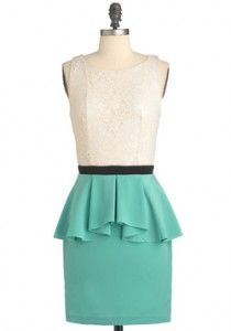 My hips prevent me from wearing this style, but I love it anyway...  Go peplum!