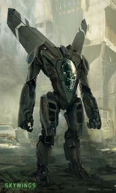 concept robots: Concept robots by Ioan Dumitrescu: A bit of Robotech in this. Damn it looks hot!
