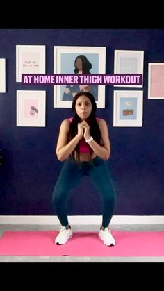 Month Workout Challenge, Beauty Tips For Glowing Skin, Leg Lifts, Jump Squats, Thigh Exercises, Lose Weight At Home, Inner Thigh, Work Outs, Butt Workout