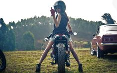 Café racer 'badass rider'