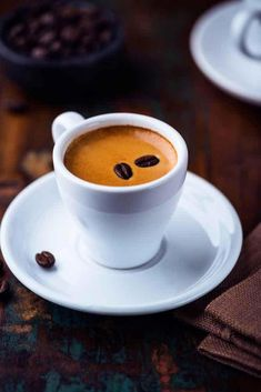 Many Italians call espresso a romantic kind of coffee and it's easy to see why. The nature of espresso is such that it doesn't take a whole lot to fill you up. I Love Coffee, Coffee Break, Coffee Time, Decaf Coffee, Krups Coffee, Coffee Americano, Men Coffee, Coffee Club, Starbucks Coffee