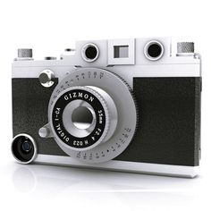 iPhone case lets your phone become a fifties style camera. Love It!