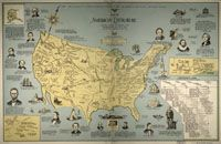 a booklover's map of the USA
