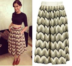 Sonam Kapoor looks amazing in this printed dirndl skirt from SHIFT BY NIMISH SHAH. Dirndl Skirt, Sonam Kapoor, Printed, Lady, Skirts, Profile, Inspiration, Clothes, Amazing
