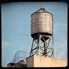 New York City wooden water tower