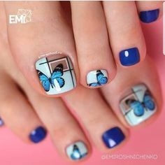 Ideas gel manicure designs short nails nailart for 2019 Gel Manicure Designs, Pedicure Nail Art, Toe Nail Art, Pretty Toe Nails, Cute Toe Nails, My Nails, Diy Sharpie, Purple Gel Nails, Cute Nail Art Designs