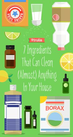 7 Ingredients That Can Clean (Almost) Anything — love that these are all natural!