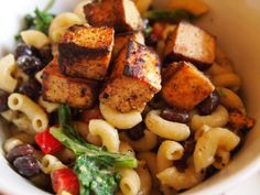 Avocado Pasta Salad w/ Chipotle Tofu #vegan