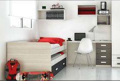 Cama nido nova - Melamina - Dos camas para colchón de 90x190m. -Cama baja deslizable -Medida exterior 2m largo x 80 alto x 98 profundidad Opcional marinera o cajones individuales